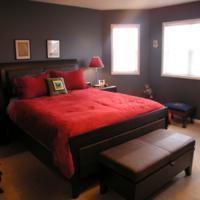 Bruine slaapkamer ontwerpen.