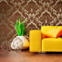 Bruine muurdecoratie
